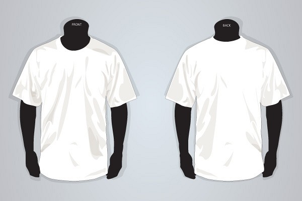 Plain White T-shirt Template