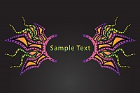 Psychedelic Background Vector Banner