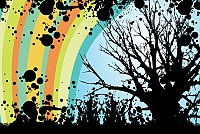 Abstract Rainbow Tree Vector