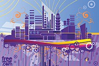 Abstract Urban Scene Vector