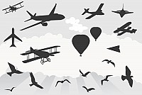 Various Flying Objects Vector