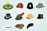 Mixed Style Vector Hats