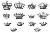 Awesome Vector Grunge Crowns