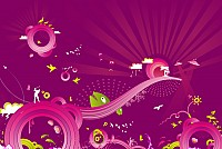 Purple Abstract Vector Background