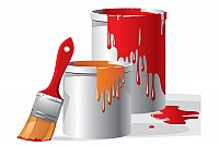 Realistic Paint Buckets Vector