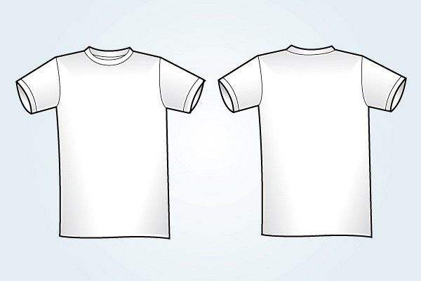 Blank White T-Shirt Template