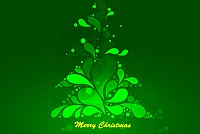 Abstract Green Christmas Tree Vector