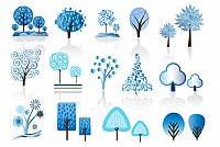 Vector Winter Trees