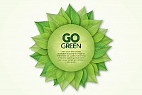 Green Eco Poster Vector