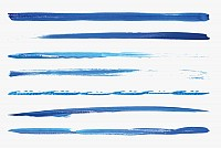 15 Blue Vector Paint Brushes