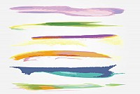 100 Watercolor Vector Brushes