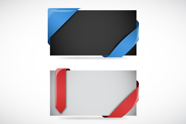 Vector Website Ribbons and Corners