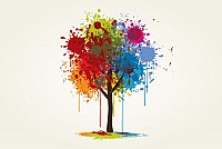 Splashed Abstract Vector Tree