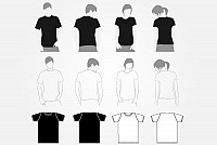 Vector T-shirt Template Set