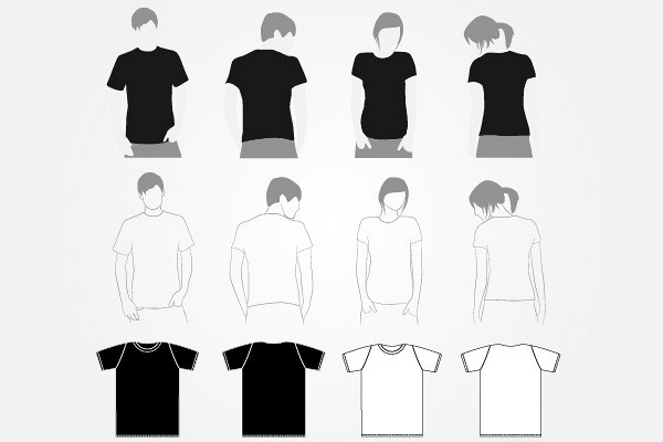 Vector TShirt Template Set  TopvectorsCom