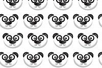 Seamless Vector Panda Pattern