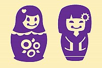 Matryoshka Doll Vector