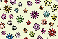 Colorful Vector Flower Pattern