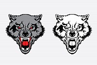 Angry Wolf Vector Graphic