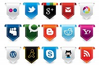 New Social Media Vector Icons