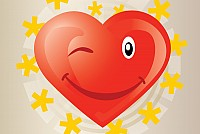 Funny Heart Vector Cartoon