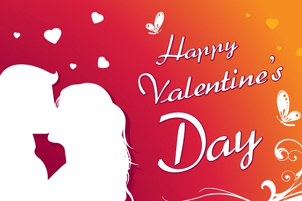 Happy Valentine�s Day Card Vector