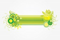 Green Abstract Vector Banner
