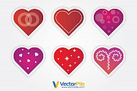 Valentine�s Vector Hearts Stickers