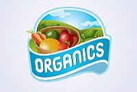 Organic Farm Logo Label