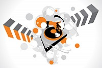 Abstract DJ Turntable Vector