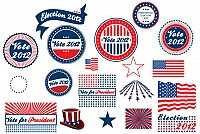 Presidential Election Vector Stickers