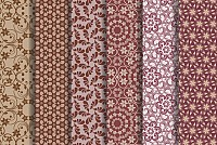 Brown Floral Vector Patterns