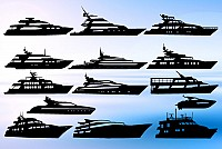 Vector Yacht Silhouettes