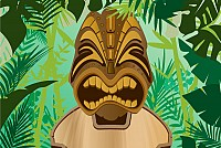 Jungle Tiki Vector Background