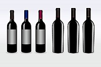 Vector Red Wine Bottles