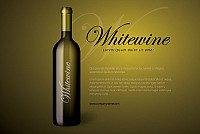 White Wine Bottle Vector Graphic