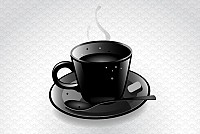 Black Coffee Cup Vector