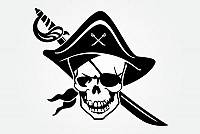 Pirate Skull Vector Head