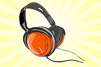DJ Headphones Vector Graphic
