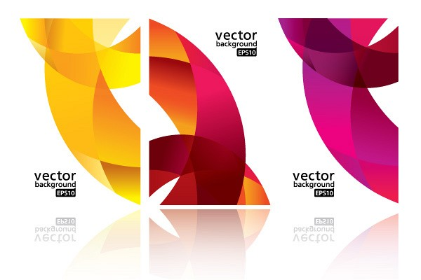 Dynamic Ribbon Business Card Vector