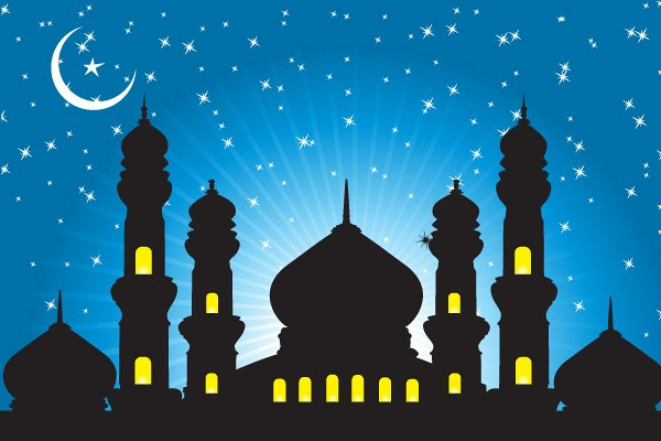 Muslim Mosque Background Vector