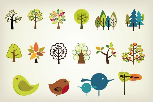 Cute Vector Trees Pack
