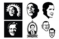 Presidential Faces Vector Graphics