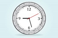 Realistic Vector Clock Illustration