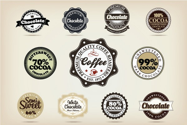 Chocolate Vector Labels