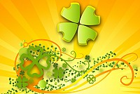 Colorful Shamrock Illustration