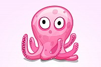 Cute Octopus Vector Graphic
