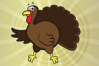 Turkey Cartoon Vector Graphic