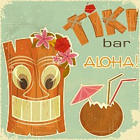 Vintage Hawaiian Vector Illustration