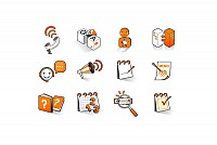 Orange Internet Vector Icons